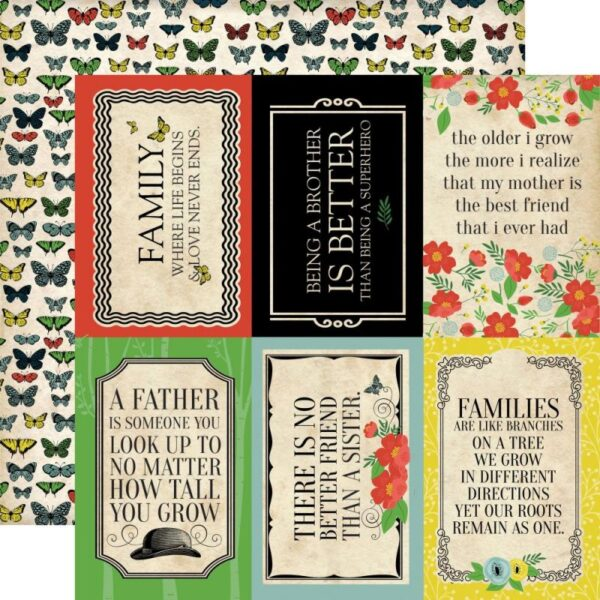 "Our Family - 4""X6"" Journaling Cards"