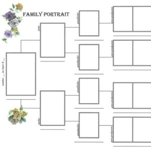 Family Portrait Pedigree Chart