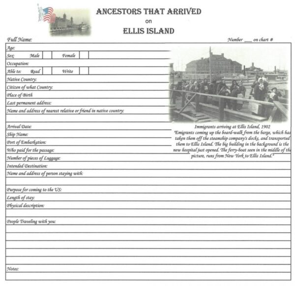 Ancestors that Arrived on Ellis Island