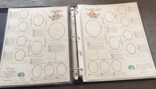 Family - 4-Page Panoramic Genealogy Chart Layout