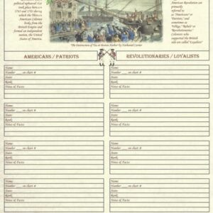 Family - Ancestors in the American Revolution