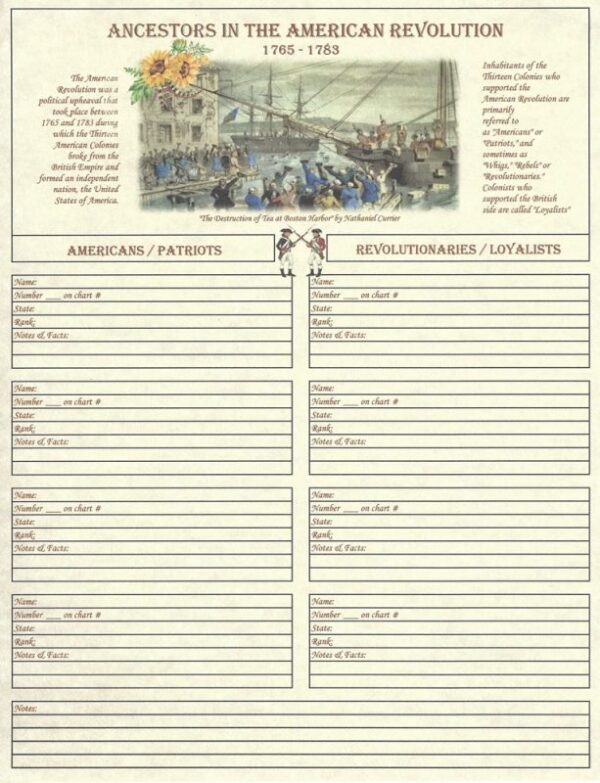 Family - Ancestors in the American Revolution