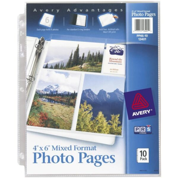 "Avery - 8.5"" x 11"" Mixed Format Photo Pages"