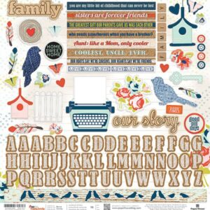 One Big Happy Family - Cardstock Stickers