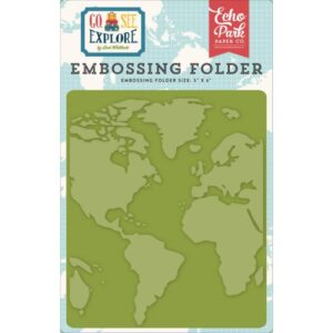 Embossing Folder - Go, See, Explore - Around The World