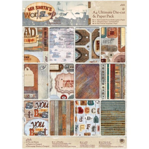 Papermania - Mr. Smith's Workshop Ultimate A4 Die-Cuts & Paper Pack