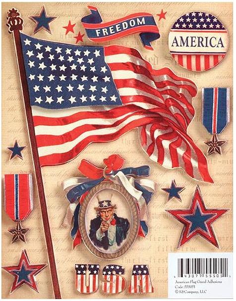 Military Grand Adhesions - American Flag