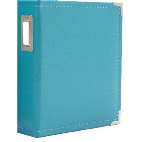 "Sn@p! Leather Binder 8""x 9""- Teal"