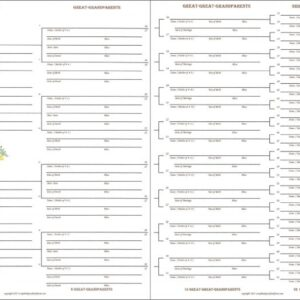 Family - Downloadable - 7 Generations Chart (4 Pages)