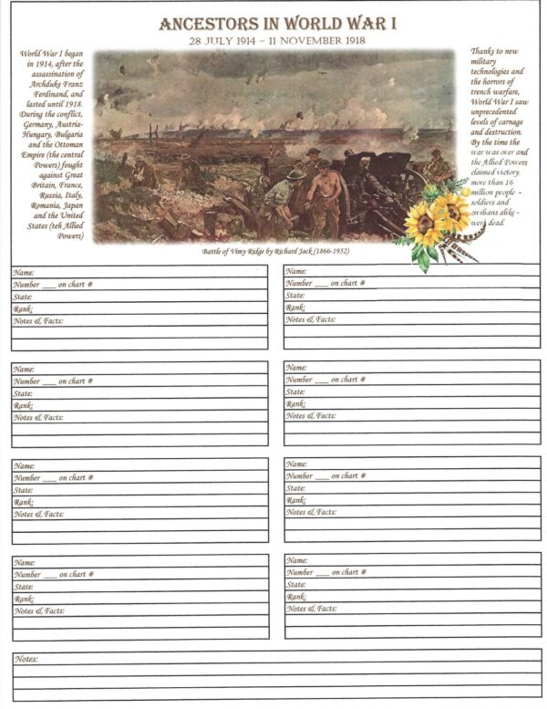 Family - Downloadable - Ancestors in the World Wars