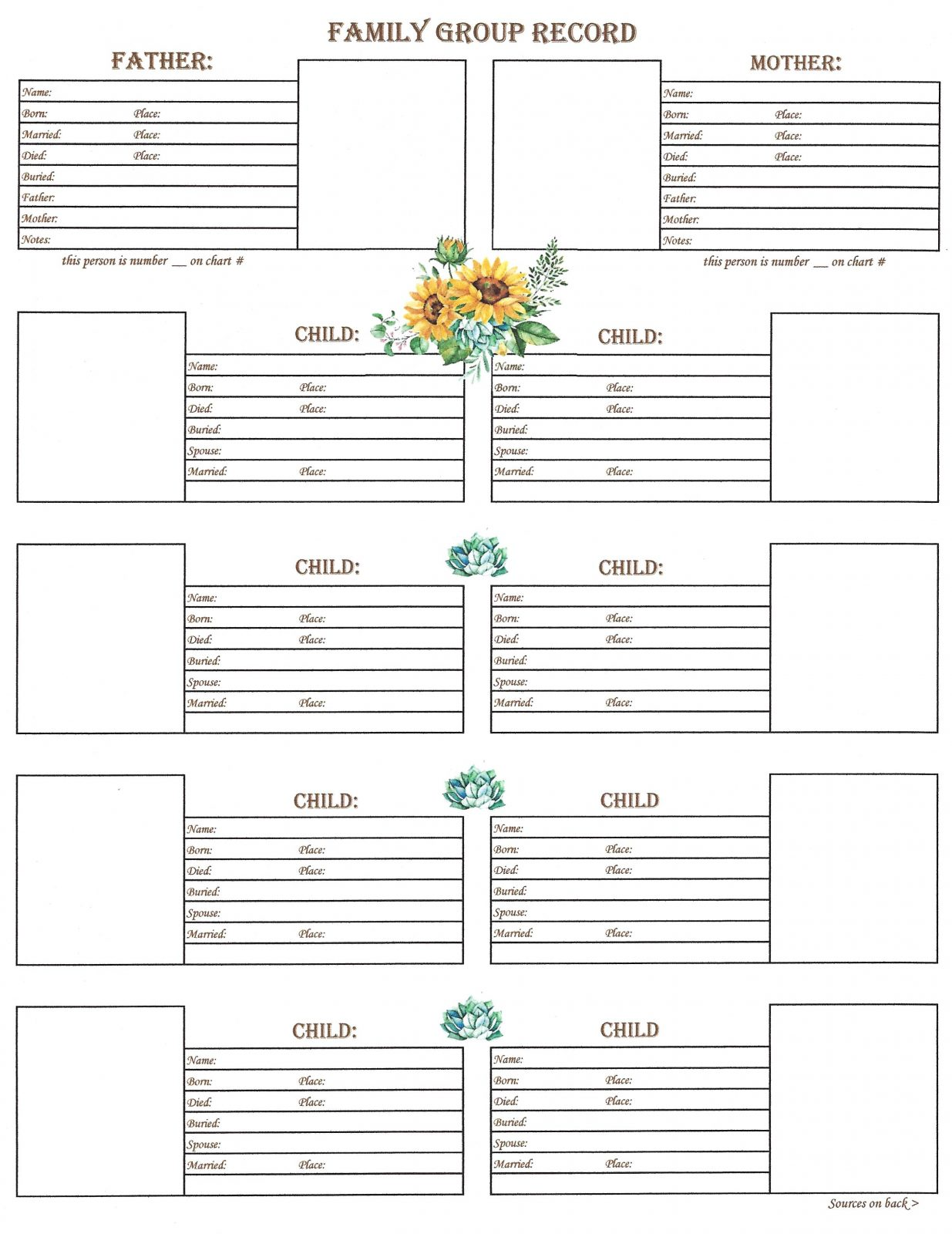 family downloadable family group chart 2 scrapbook your family