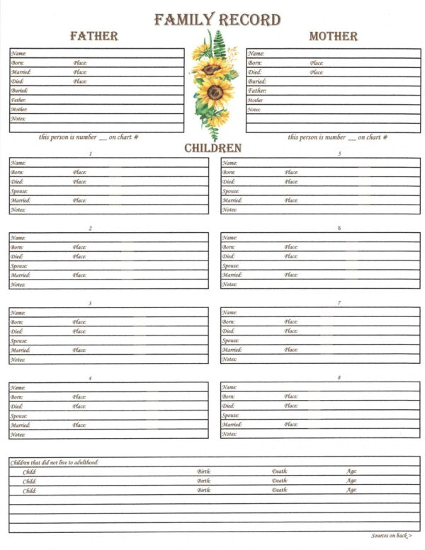 Family - Downloadable - Family Group Chart 1