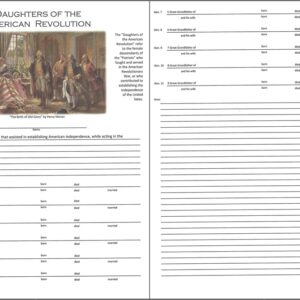 Daughters of the American Revolution - Downloadable Chart