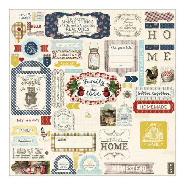 "Homestead - Cardstock Stickers - 12"" x 12"""