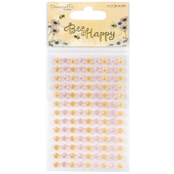 Bee Happy - Pastel Pink & Gold Jewels
