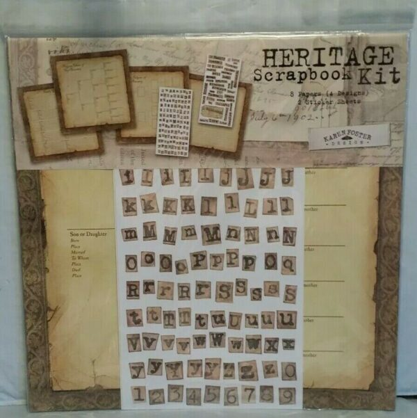Ancestry 1 - Heritage Scrapbook Kit