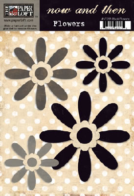 Now & Then – Dark Brown Flowers