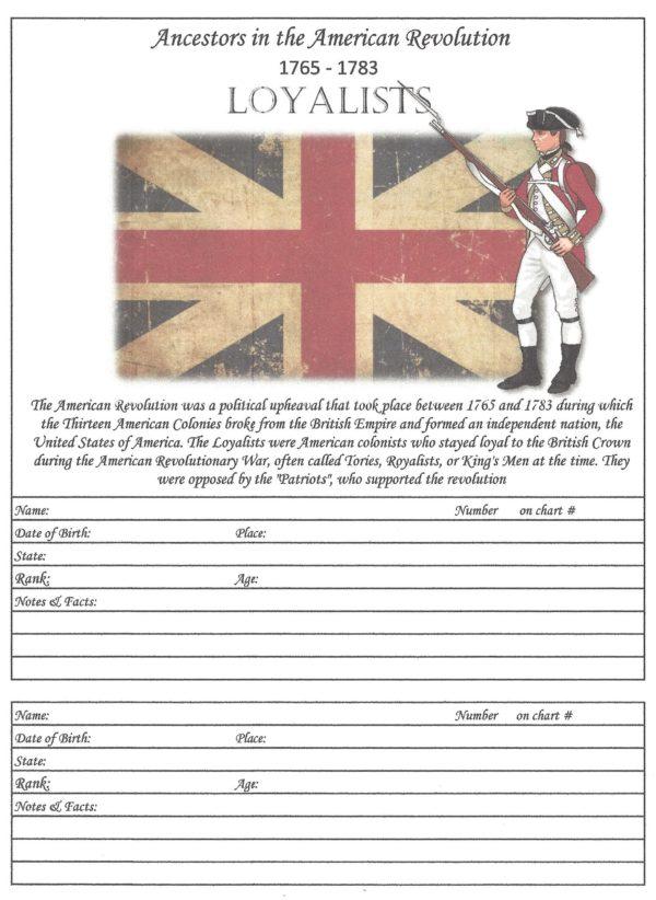 "Oak Tree - 6""x 8""- American Revolution - Loyalists"