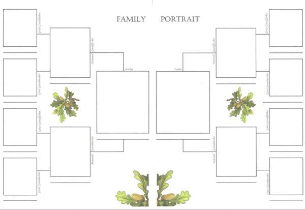 """Oak Tree - 6""""x 8""""- Family Portrait"""