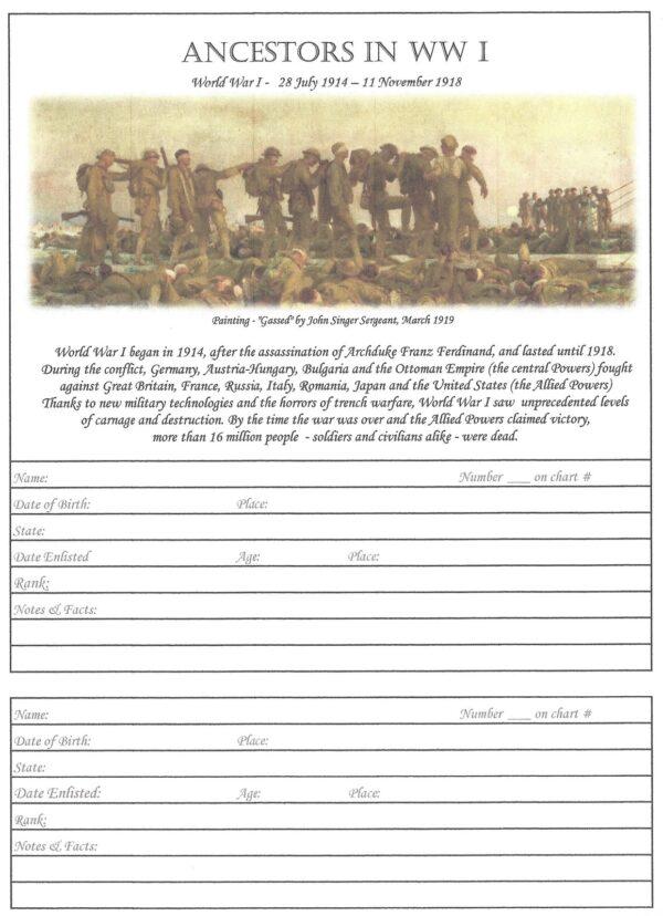 """Oak Tree - 6""""x 8""""- Ancestors in WW1"""