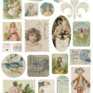 Melissa Frances - Attic Treasures - Ephemera Stickers