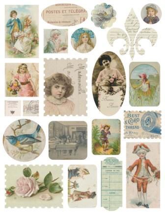 Melissa Frances - Attic Treasures - Ephemera Stickers
