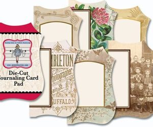 Vintage 1 - Mini Die Cut Journaling Card Pad
