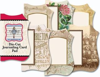Vintage 1 - Mini Die Cut Journaling Card Pad