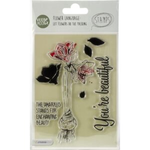 Studio Light - The Amaryllis Stands For Beauty Veer & Moon Flower Language A6 Stamps