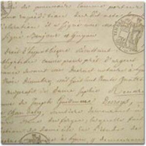 Life's Journey - Script & Seals Embossed Paper