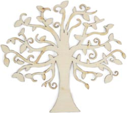 Elm Tree - Wood Flourish