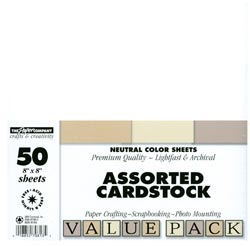"Cardstock 8""x 8"" - Neutral Color Sheets"