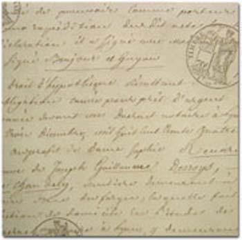 LJ Script & Seals Printed Embossed Vellum