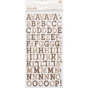 Family Heirlooms - Chipboard Alphabet