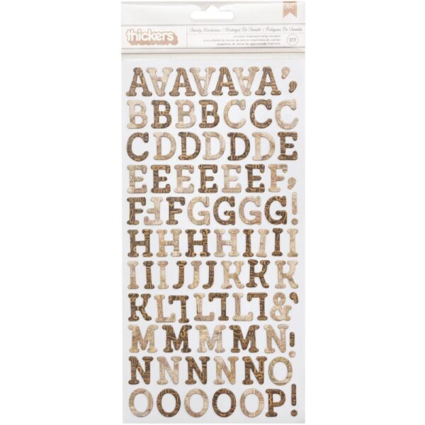 Family Heirlooms - Chipboard Alphabet