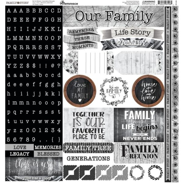 Family Story - Alpha Combo Die-Cut Stickers
