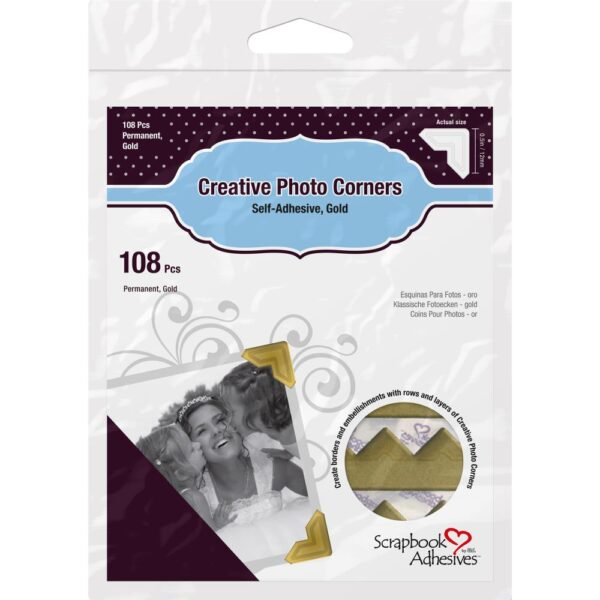 Scrapbook Adhesives – Photo Corners - Gold