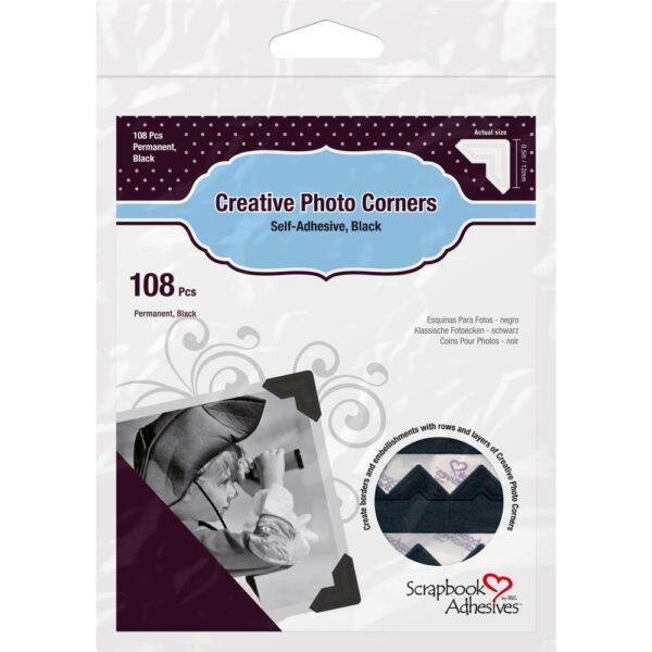 Scrapbook Adhesives – Photo Corners - Black