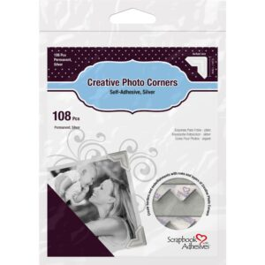 Scrapbook Adhesives – Photo Corners - Silver