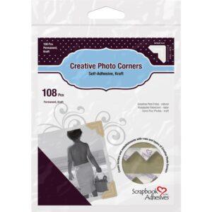 Scrapbook Adhesives – Photo Corners - Kraft