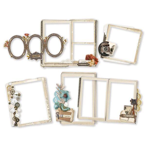 Simple Vintage Ancestry - Chipboard Frames